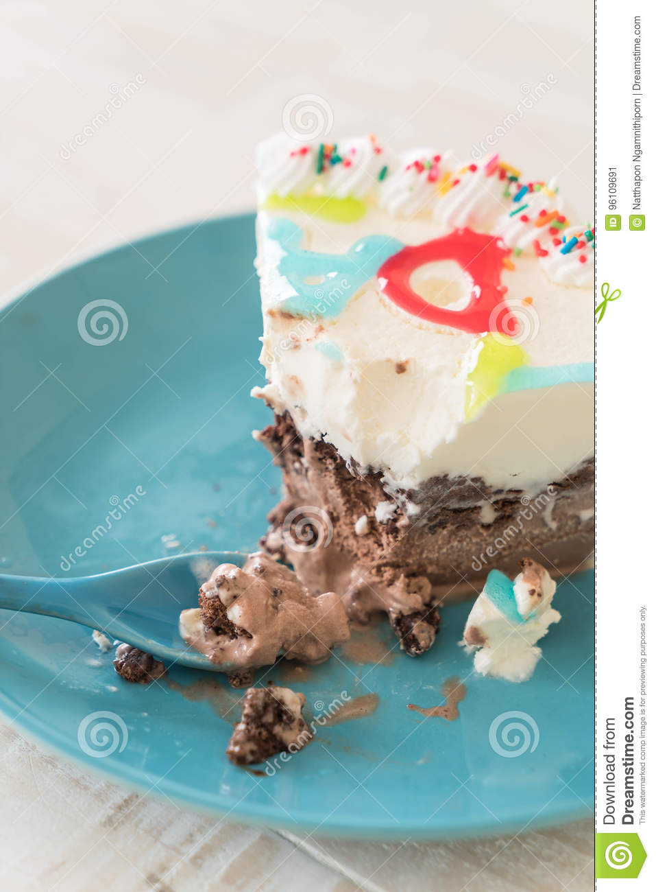 Happy Birthday Ice Cream Cake Stock Image Image Of Celebrate