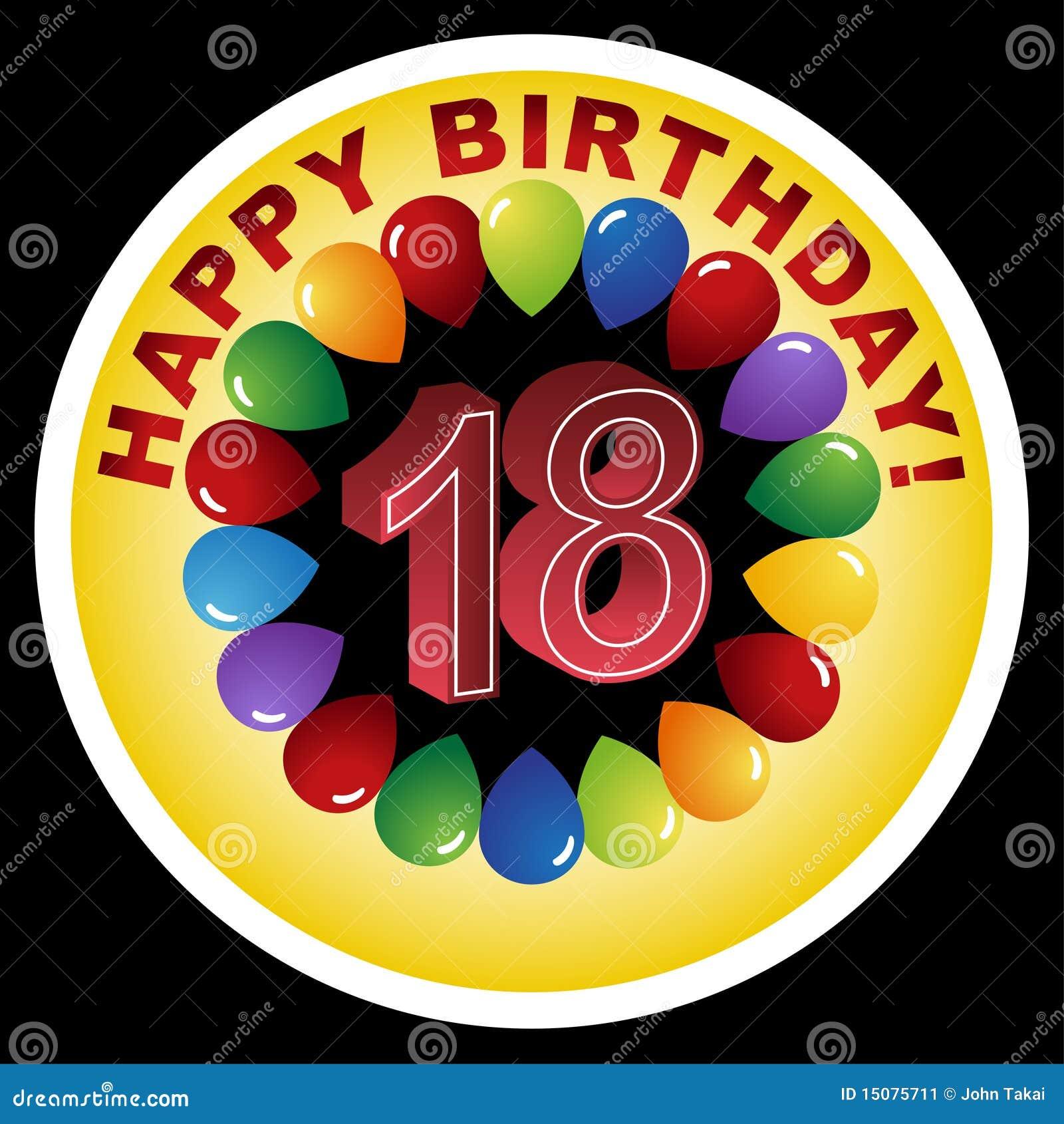 Happy Birthday Icon - Happy 18th