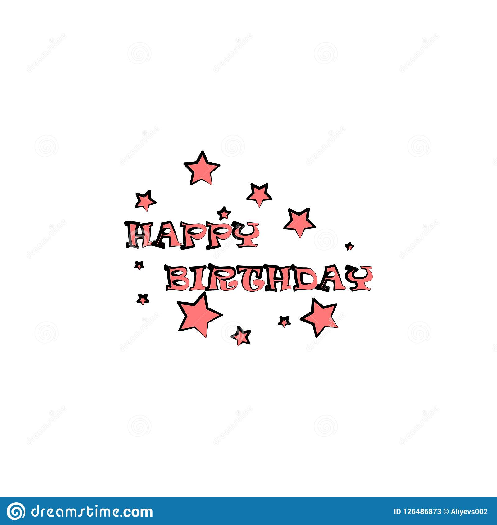 happy birthday inscription colored icon. Element of birthday icon for mobile concept and web apps. Color happy birthday inscriptio