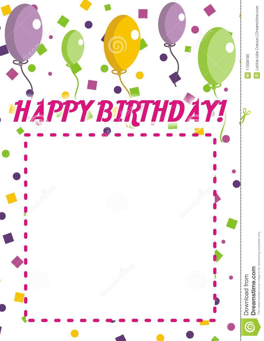 Happy Birthday Invitation Royalty Free Stock Photo - Image: 17008185