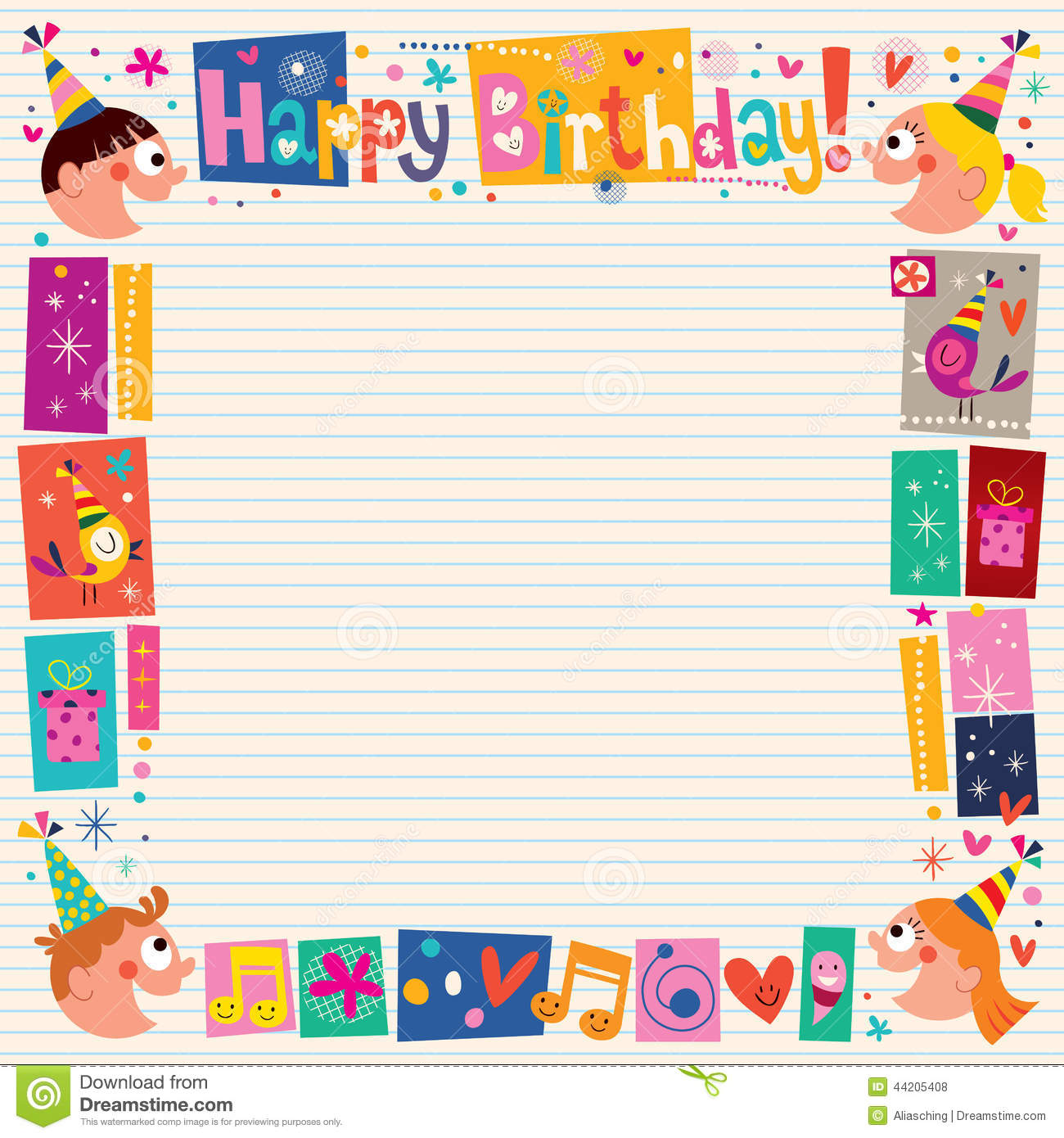 Happy Birthday Kids Decorative Border
