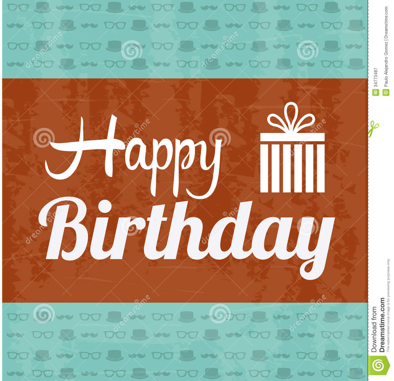 Happy Birthday Label Royalty Free Stock Photography