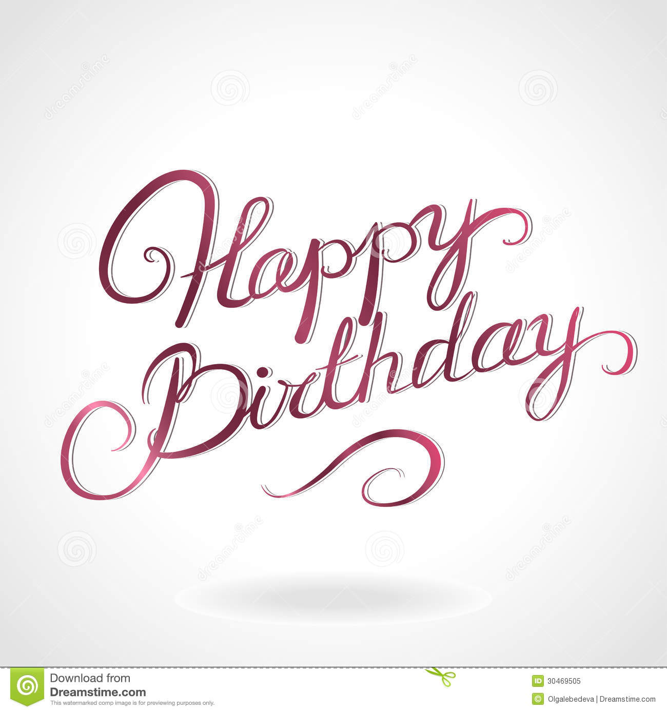 Happy Birthday Lettering Royalty Free Stock Photo - Image: 30469505