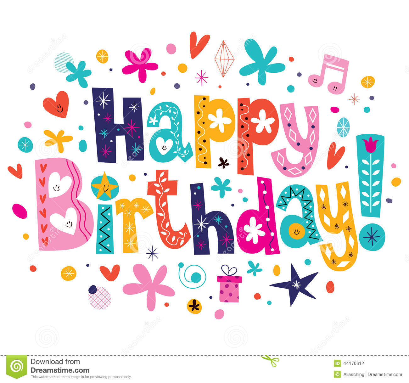 Happy Birthday Stock Vector - Image: 44170612
