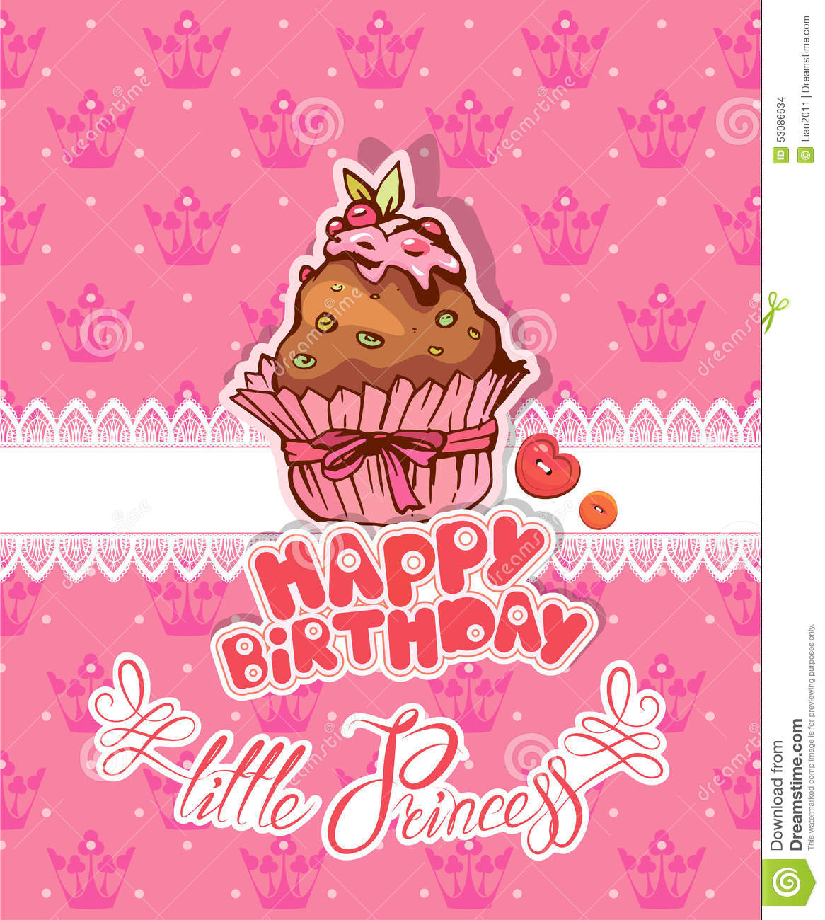 Happy Birthday Little Princess Holiday Card For Girl – Happy Birthday Card for Little Girl