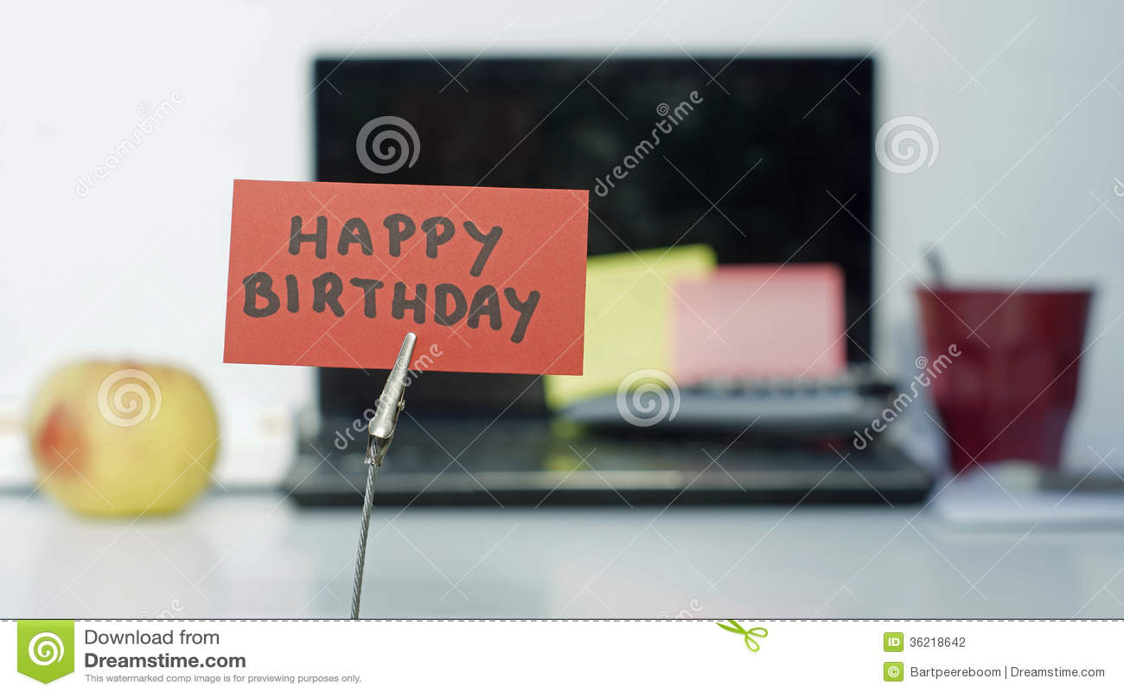Happy Birthday Memo Stock Photography - Image: 36218642