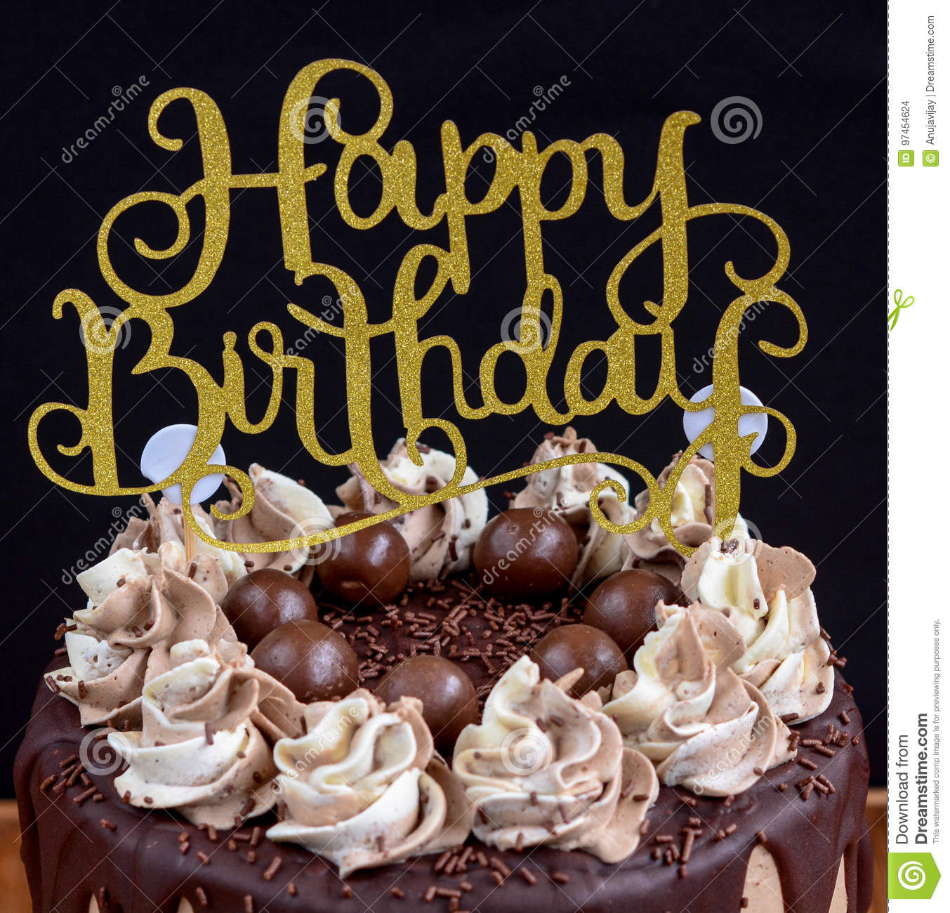 Happy Birthday Message Stock Photo Image Of Hobbybaker