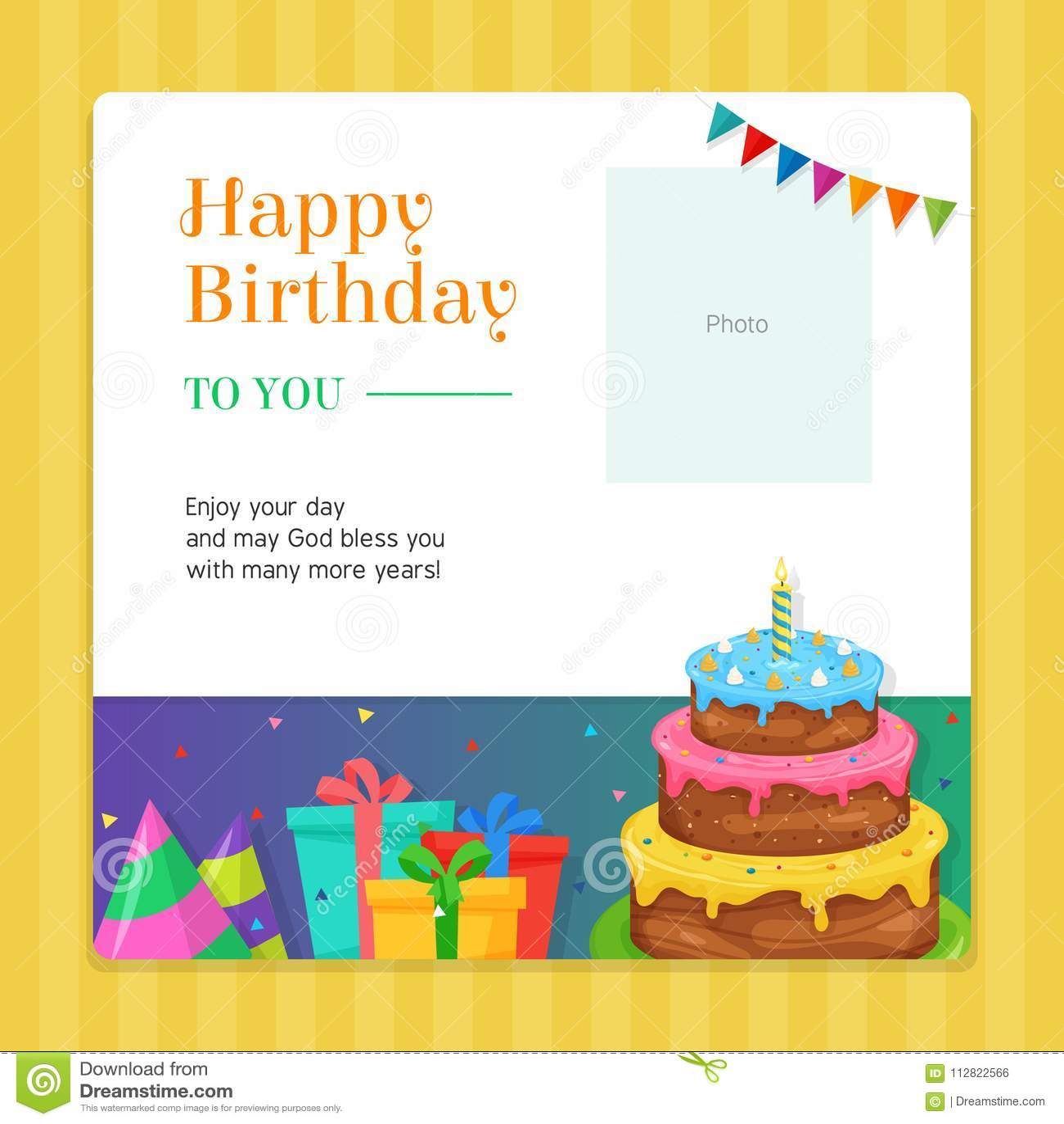 Swell Happy Birthday Modern Invitation Card Template With Birthday Cake Funny Birthday Cards Online Inifodamsfinfo