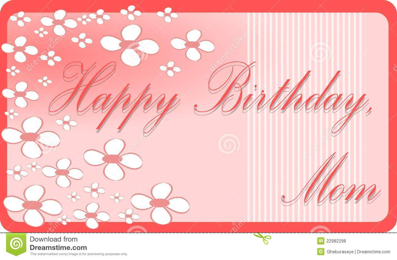 Happy Birthday Mom Stock Illustration Illustration Of Blossom