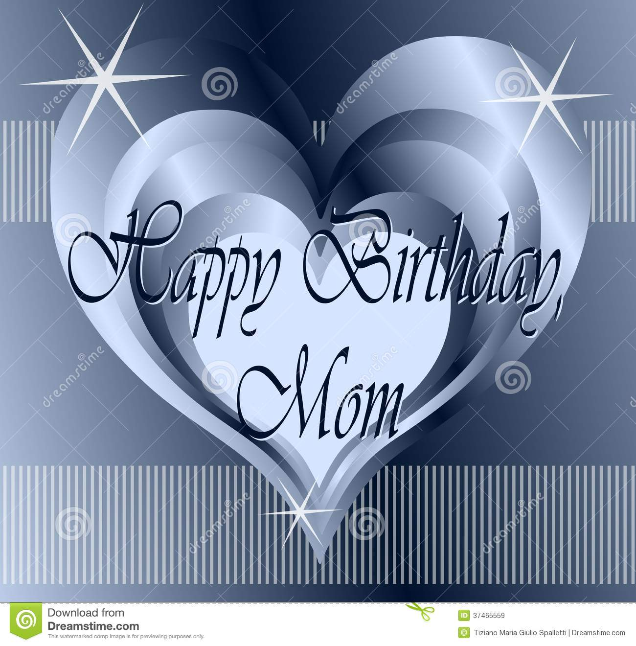 Happy Birthday Greeting Card For Mothers Stock Illustration