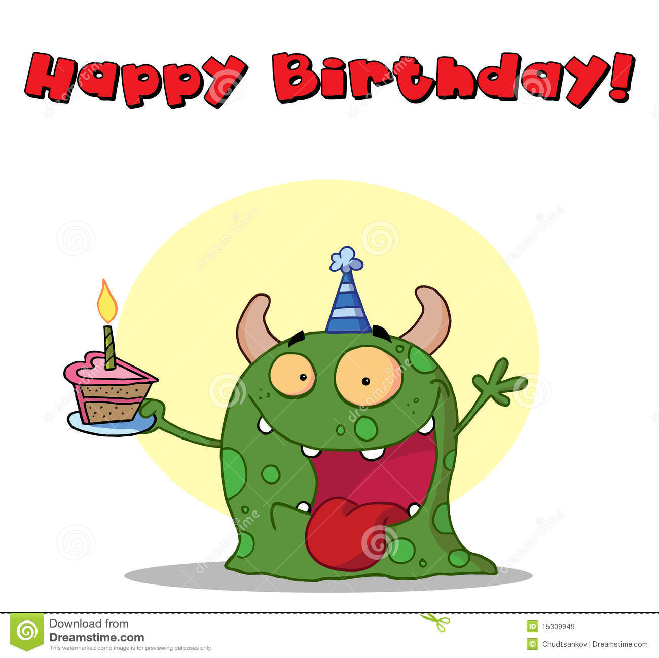 Happy Birthday Monster Royalty Free Stock Images - Image