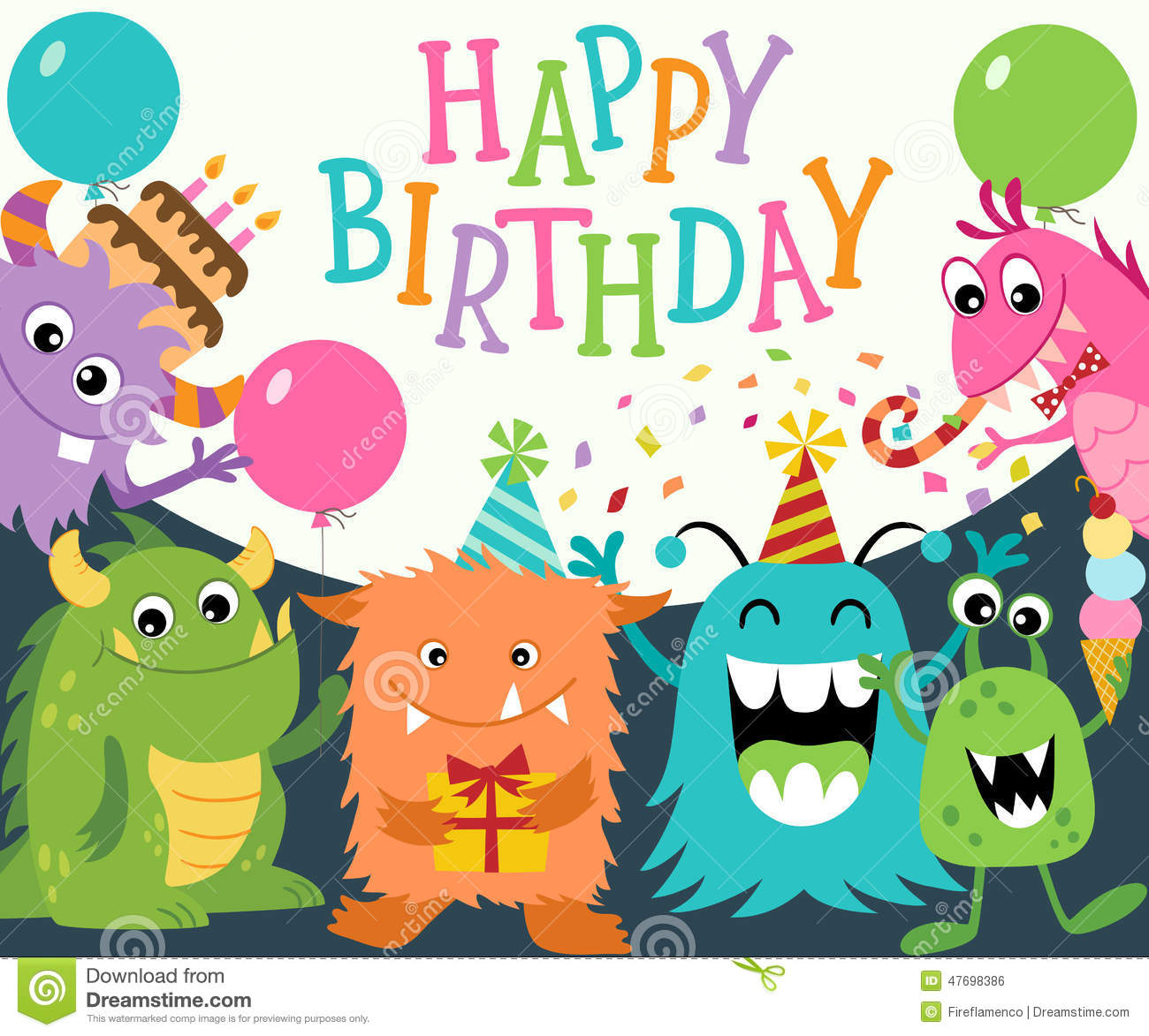 happy birthday monsters stock vector image 47698386 clip art bow tie pictures clip art bow ties yellow