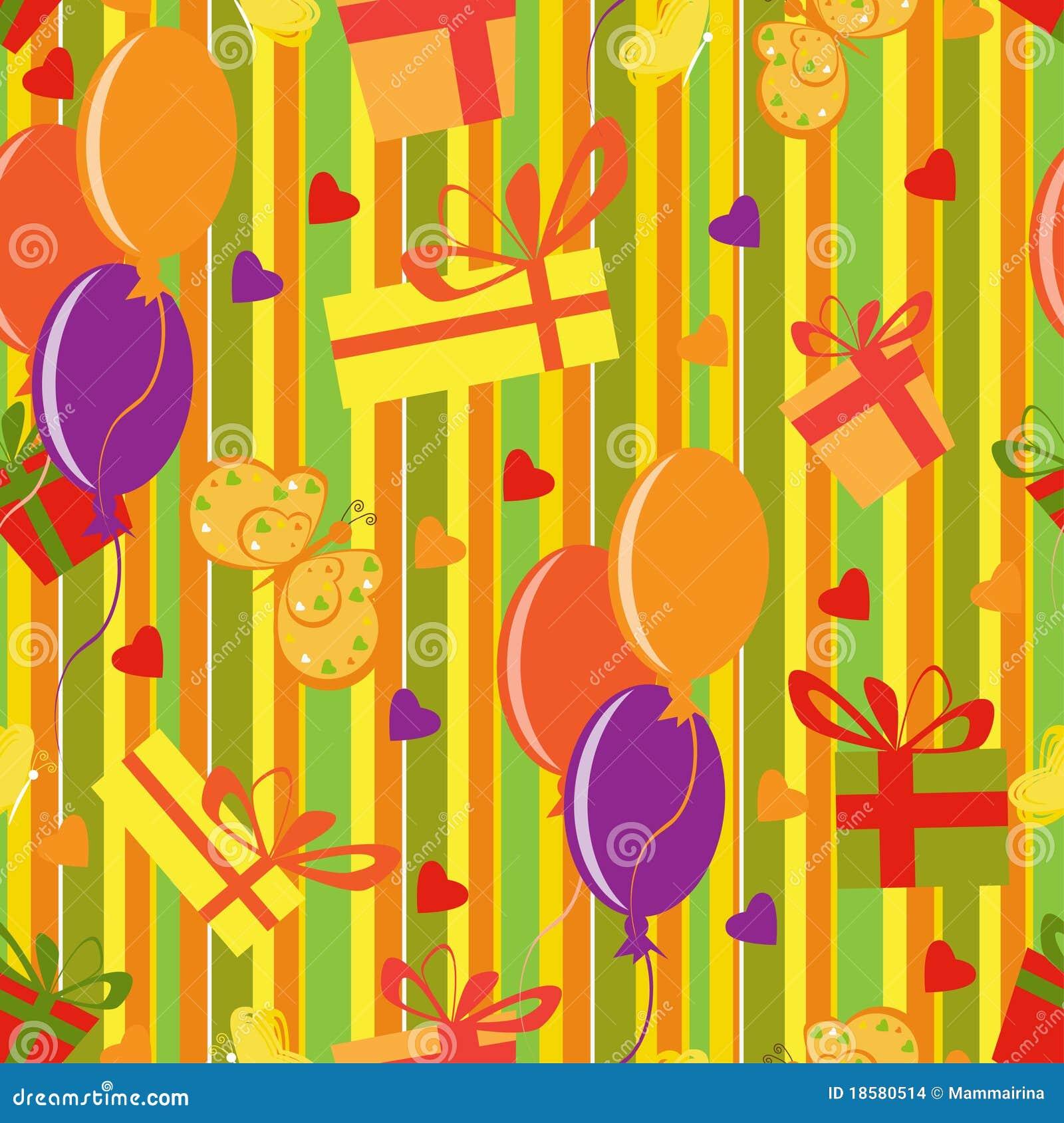 Happy Birthday Motives Pattern Stock Images Image 18580514