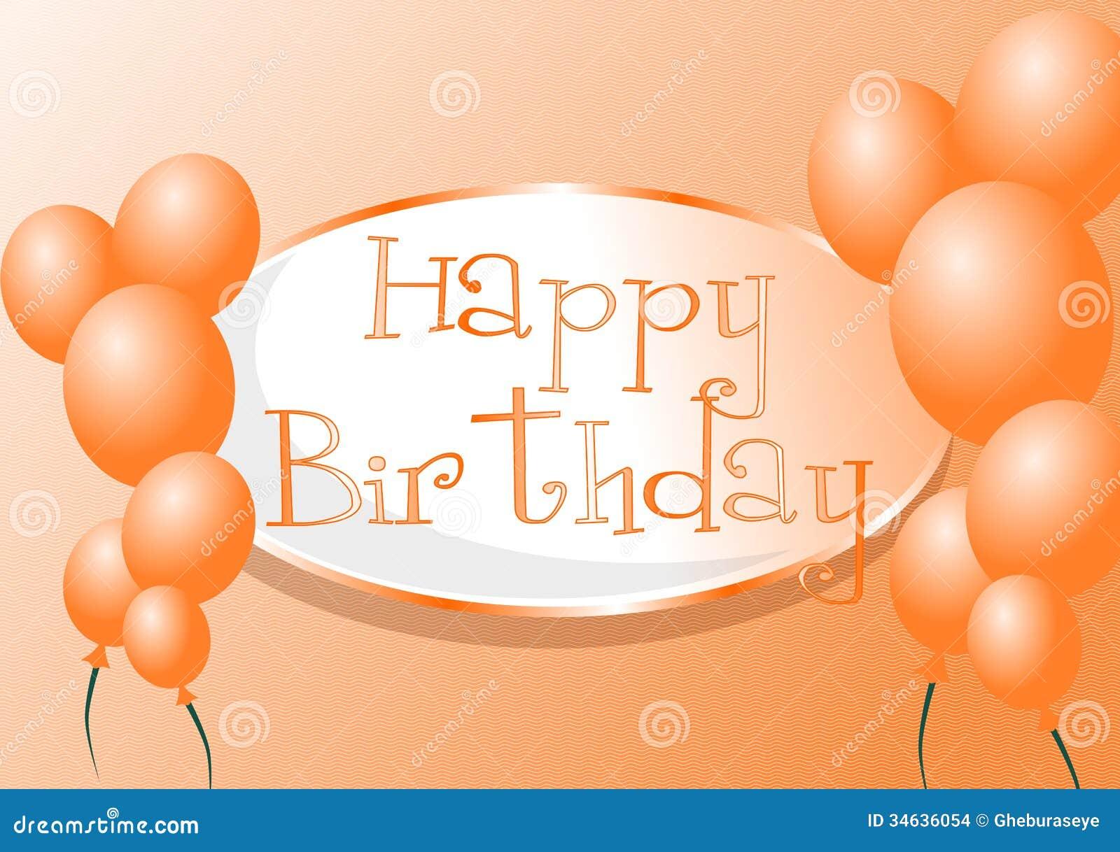 Happy Birthday Stock Illustration. Illustration Of