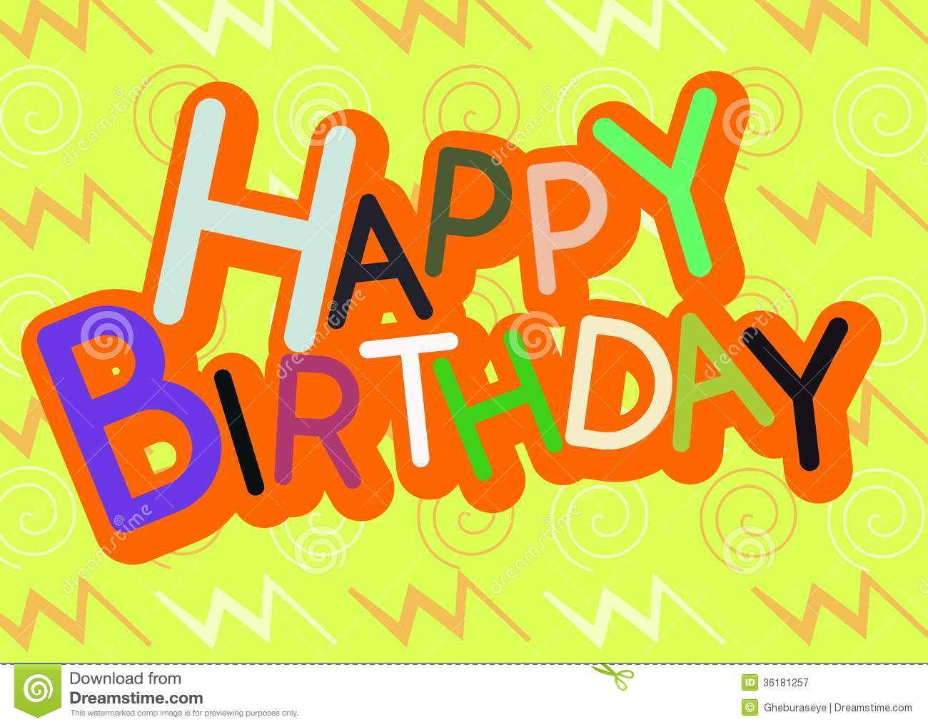 Colorful Happy Birthday Greeting Card