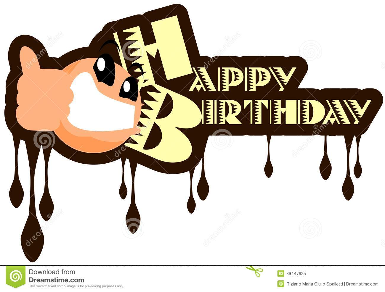 Cool Happy Birthday Greeting Card Isolated Stock Vector