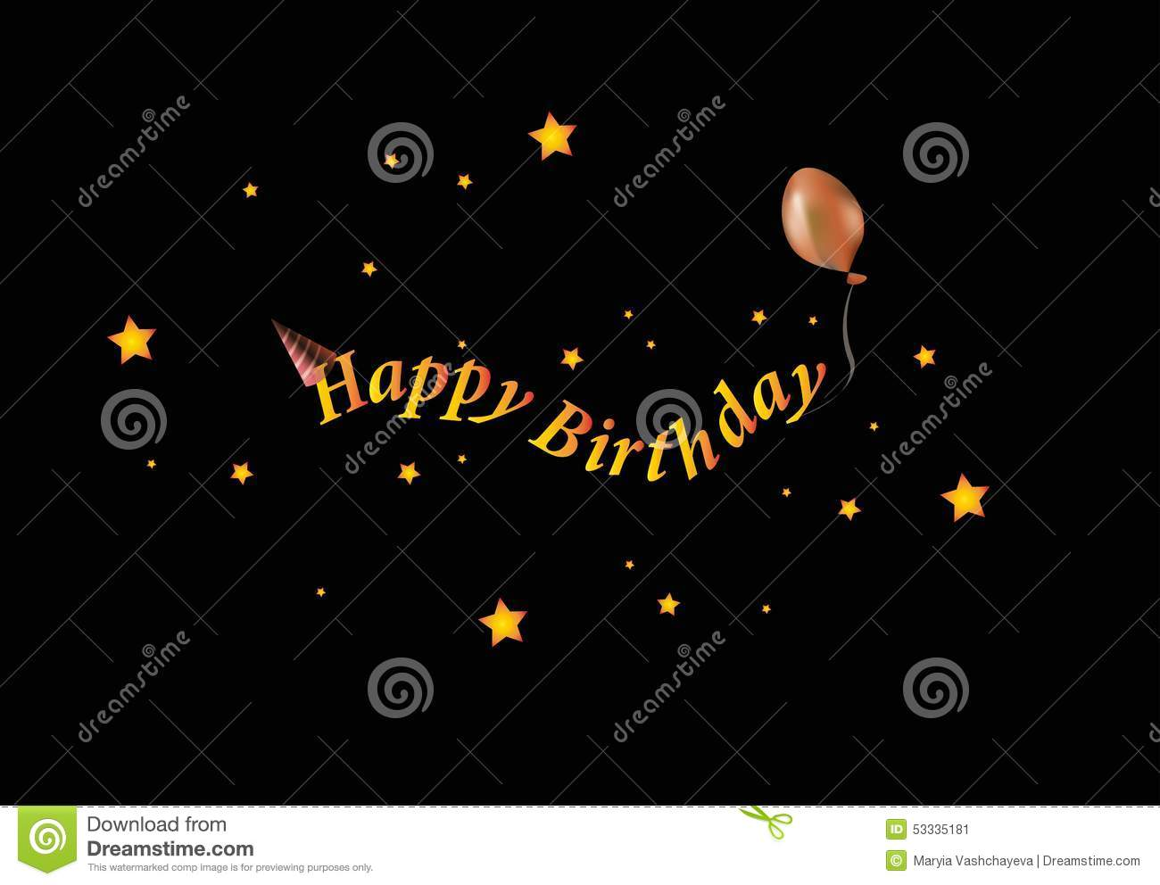 Happy Birthday Stock Vector Image 53335181