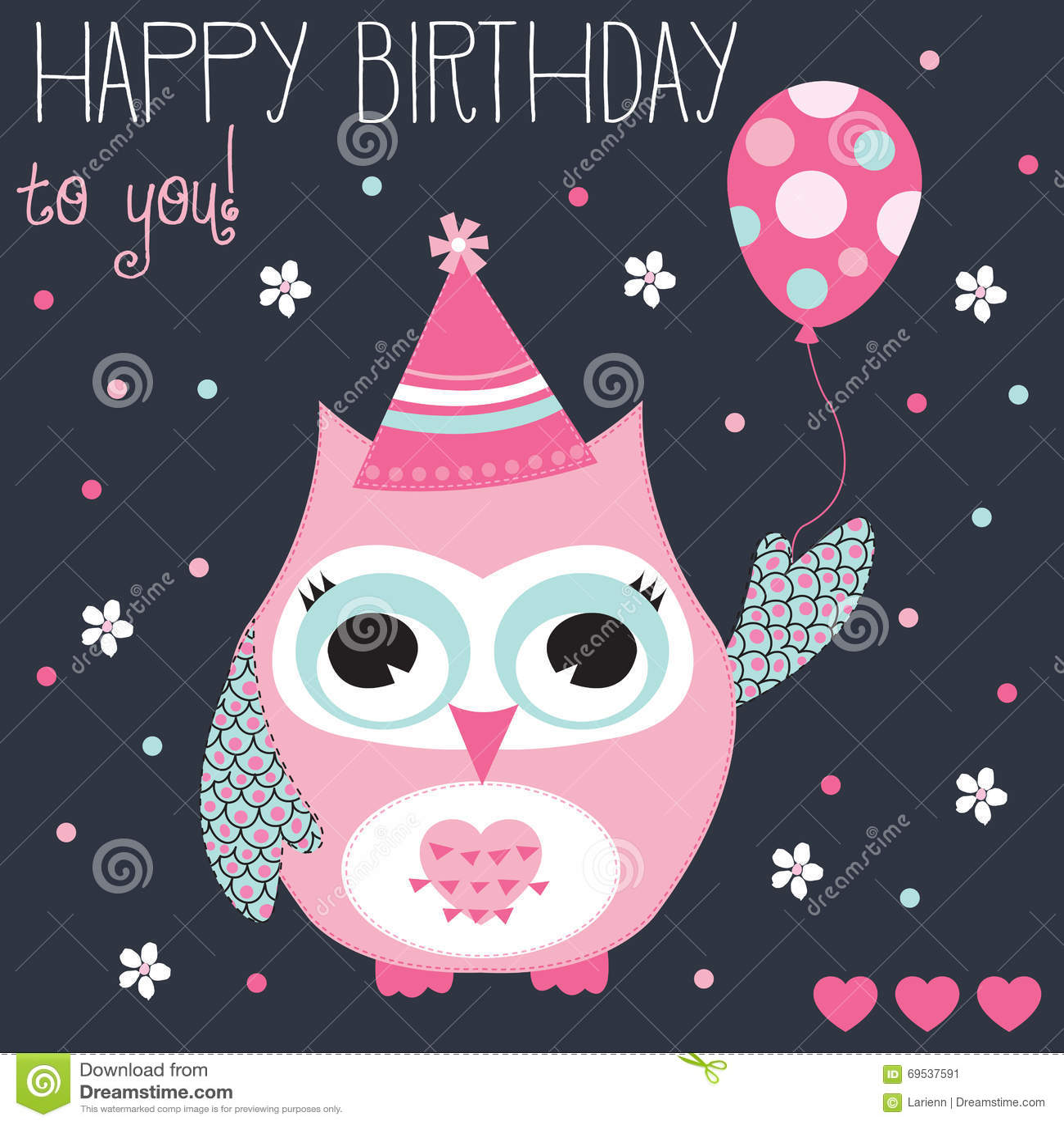 happy birthday owl images Happy Birthday Owl Vector Illustration Stock Vector   Illustration  happy birthday owl images