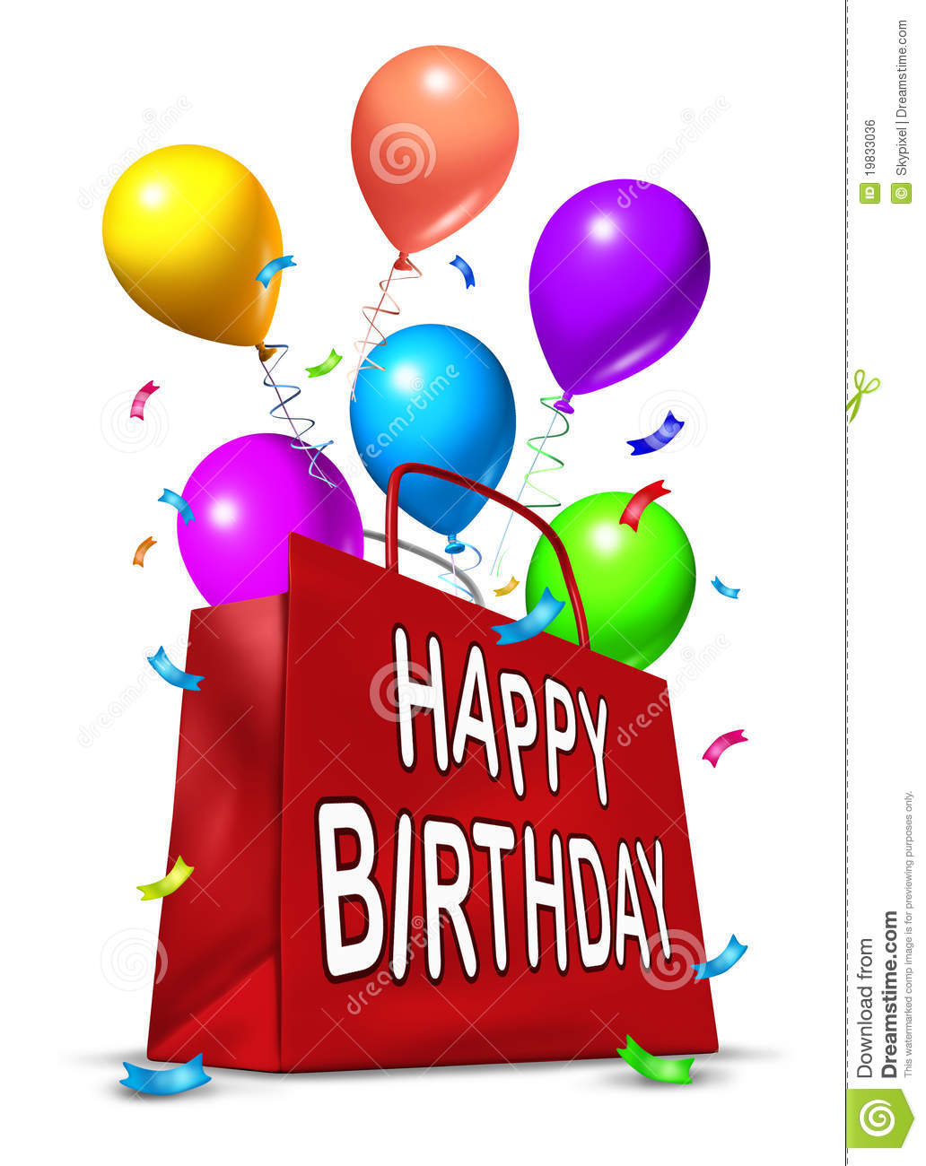 Happy Birthday Party Bag Royalty Free Stock Image - Image ...
