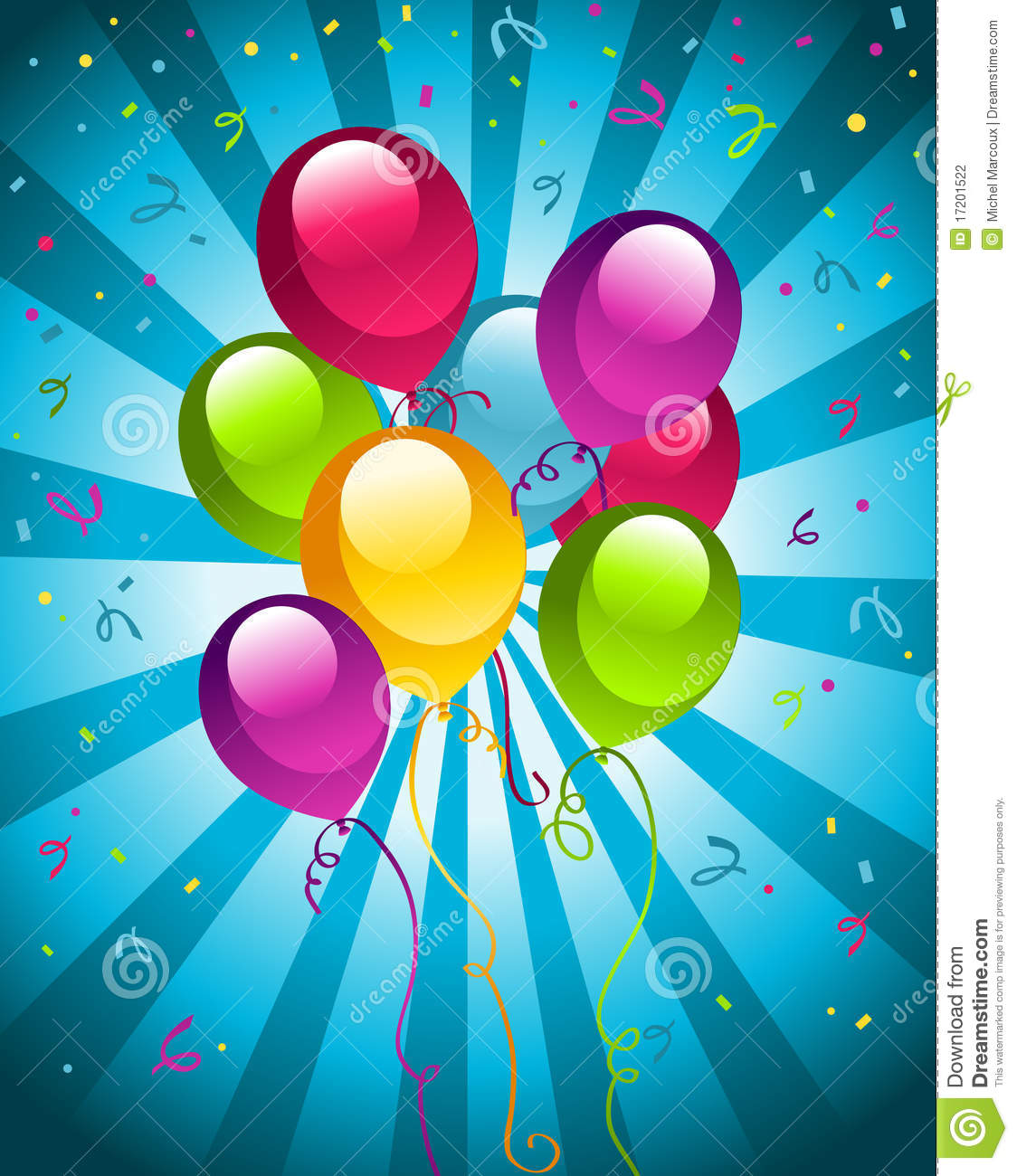 Happy Birthday Party Balloons Stock Photography Image 17201522