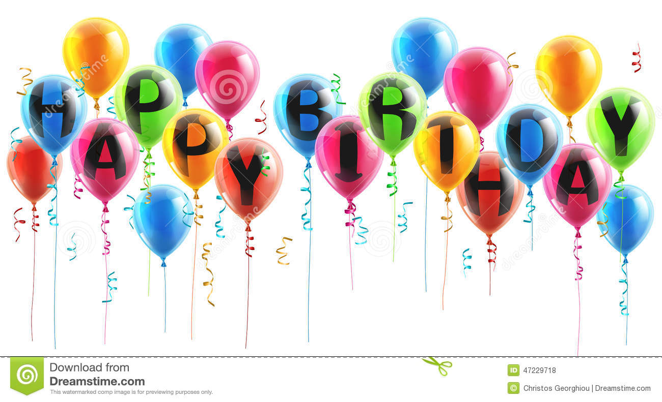 Happy Birthday Party Balloons Stock Vector Image 47229718