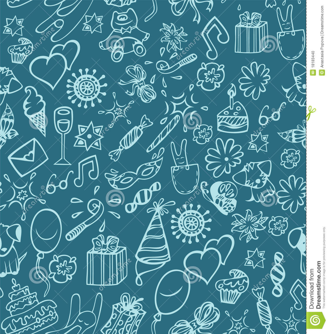 Happy Birthday Pattern Stock Photo Image 18183440