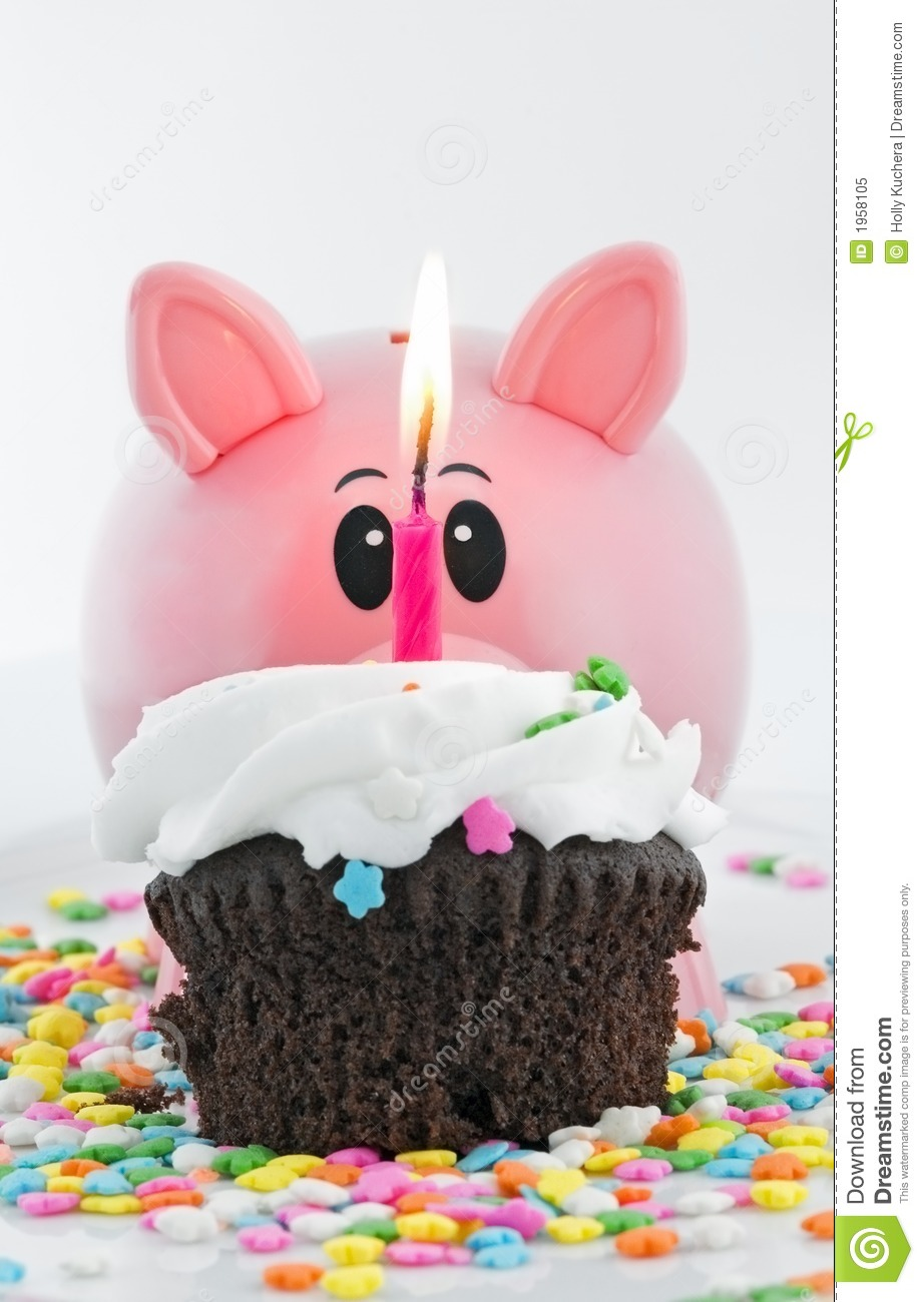 Happy Birthday Piggy Bank Stock Image Image Of Yummy