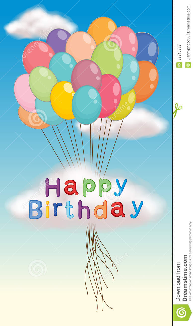 happy birthday poster royalty free stock photography image 32710737