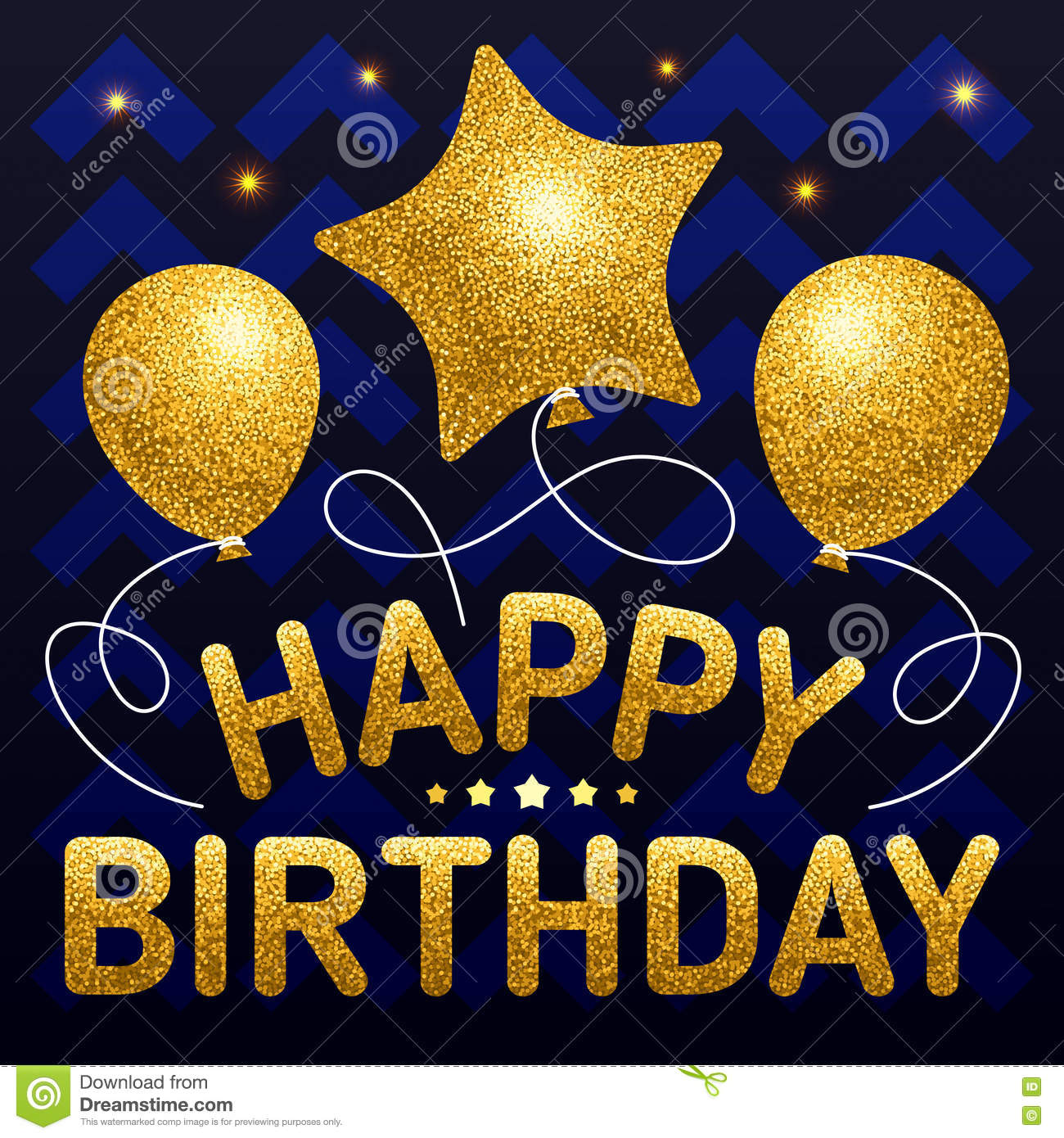 Happy Birthday Poster Template With Different Shaped