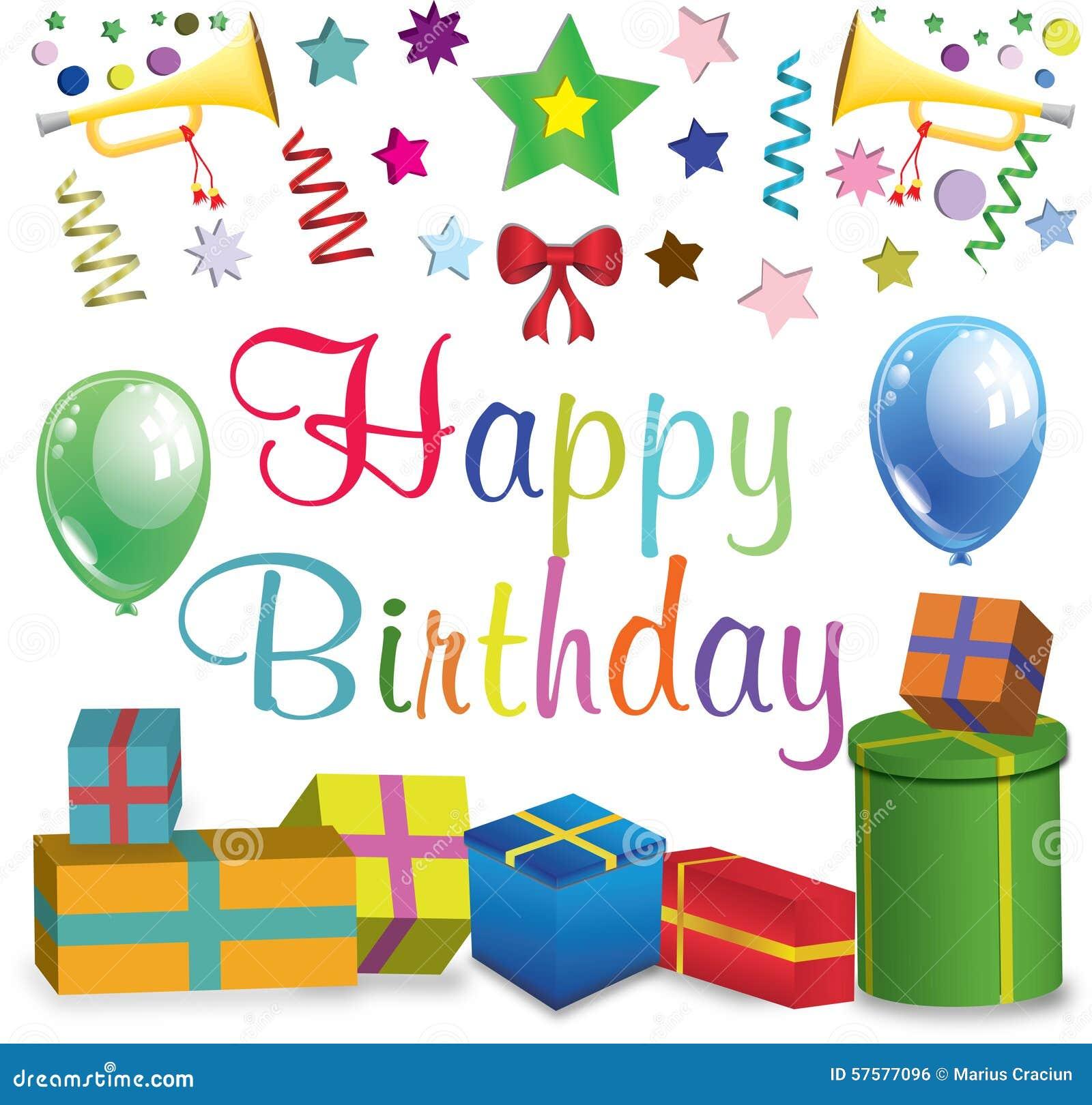 Happy Birthday Poster Stock Illustration. Illustration Of