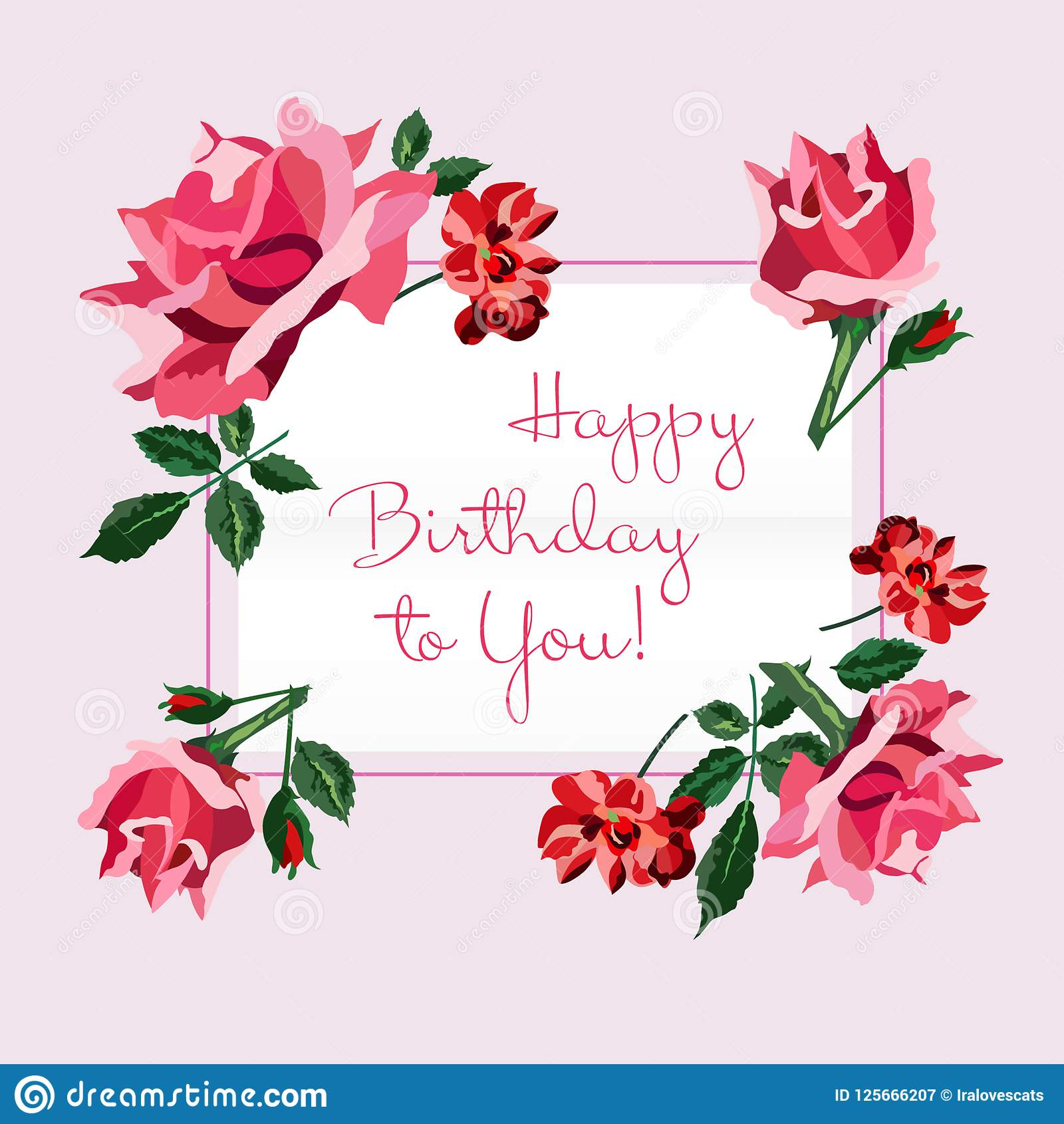 Pastel birthday wishes pink roses pictures picturesboss happy birthday present greeting card happy birthday greeting card pink red roses rgeen leaves light pastel izmirmasajfo