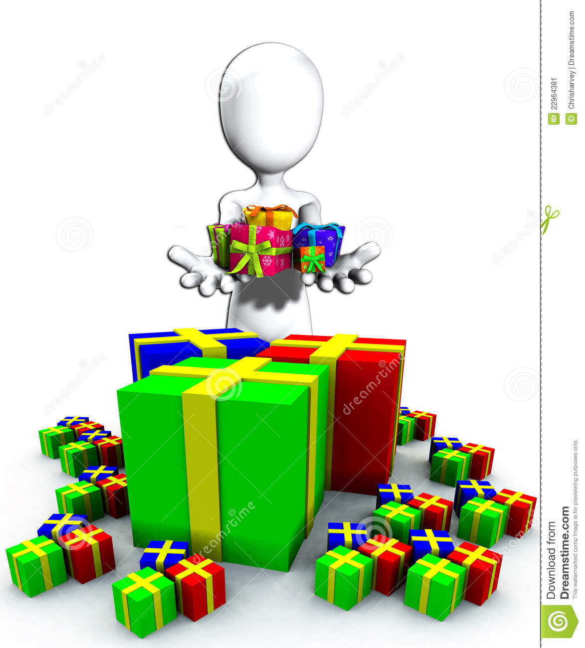 Happy Birthday Presents Stock Illustration. Illustration