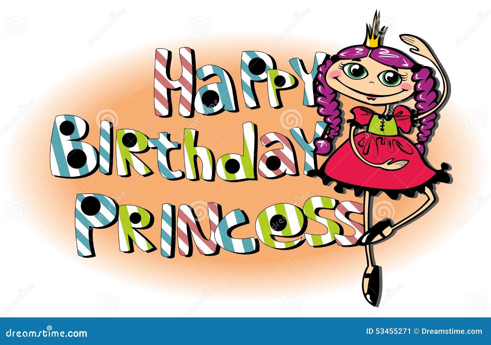 happy birthday princess stock illustration illustration of bright