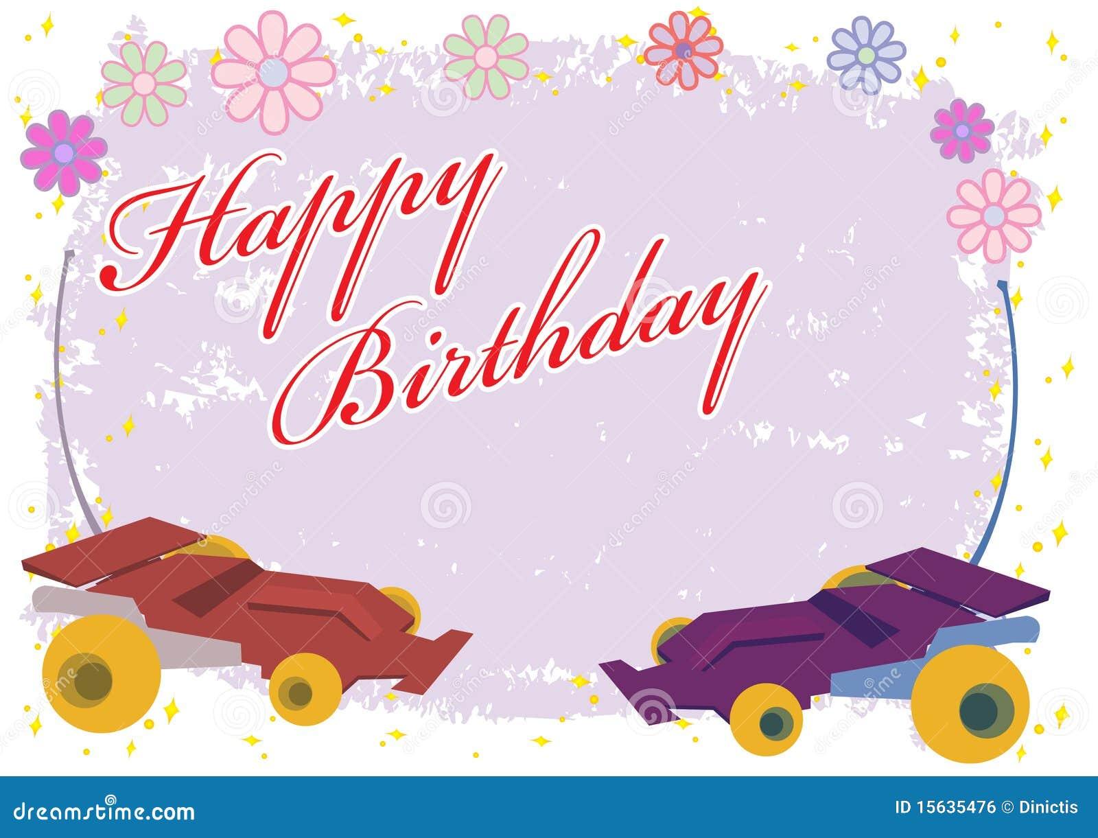 Happy Birthday Remote Control Car Royalty Free Stock Image