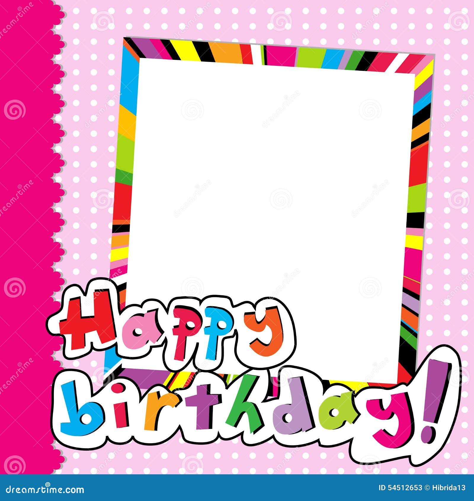 Happy Birthday Scrapbook For Baby Girl Stock Vector - Image: 54512653