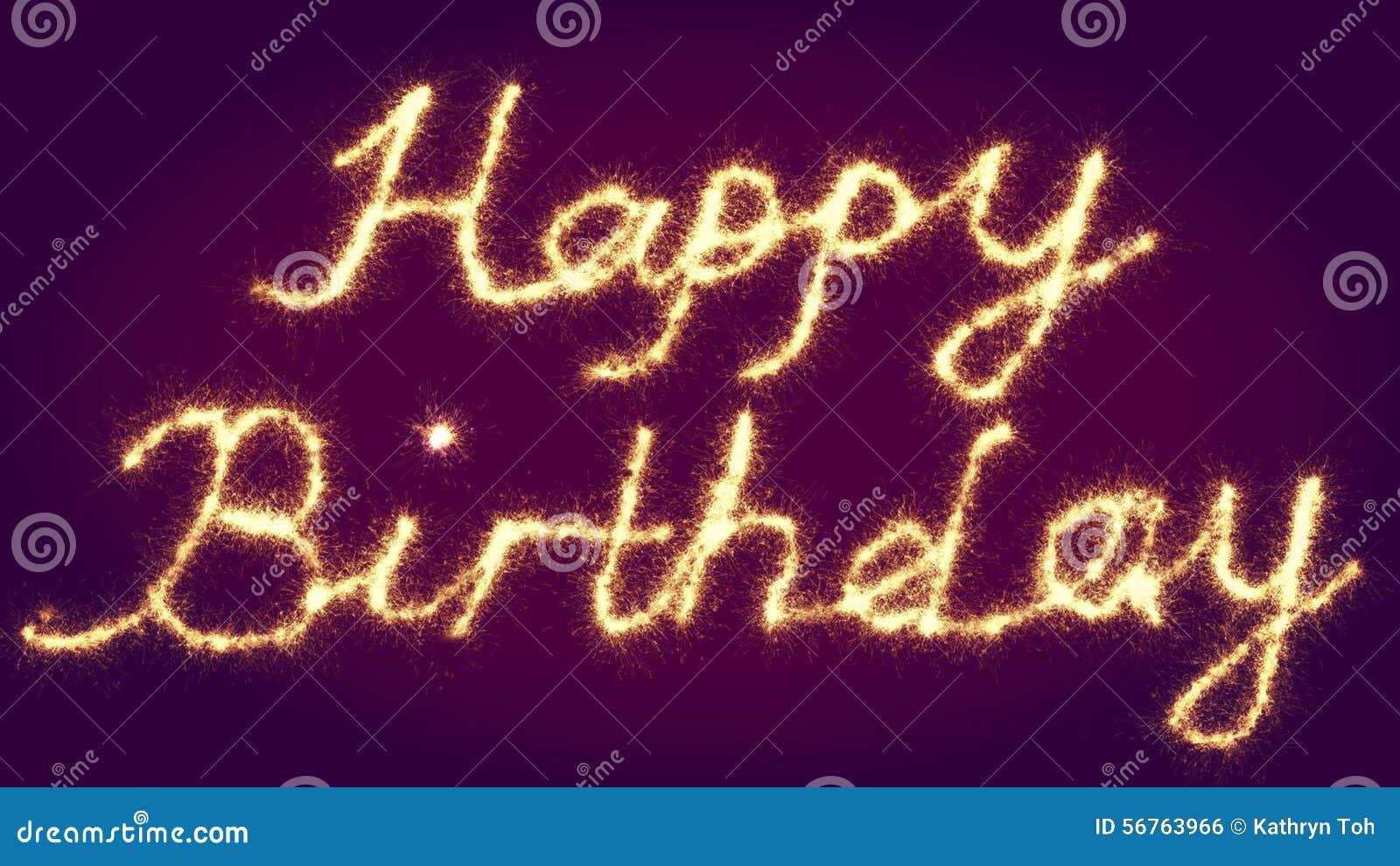 Happy Birthday Signage Stock Illustration Image 56763966