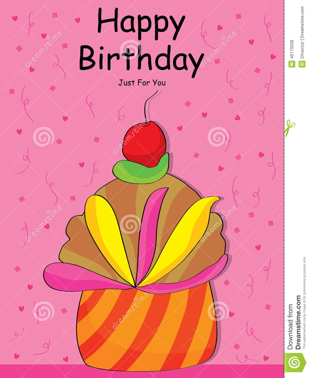 Stock Illustration Happy Birthday Special Cake Illustration Pink Background Image45170039 on Missing Numbers Clipart