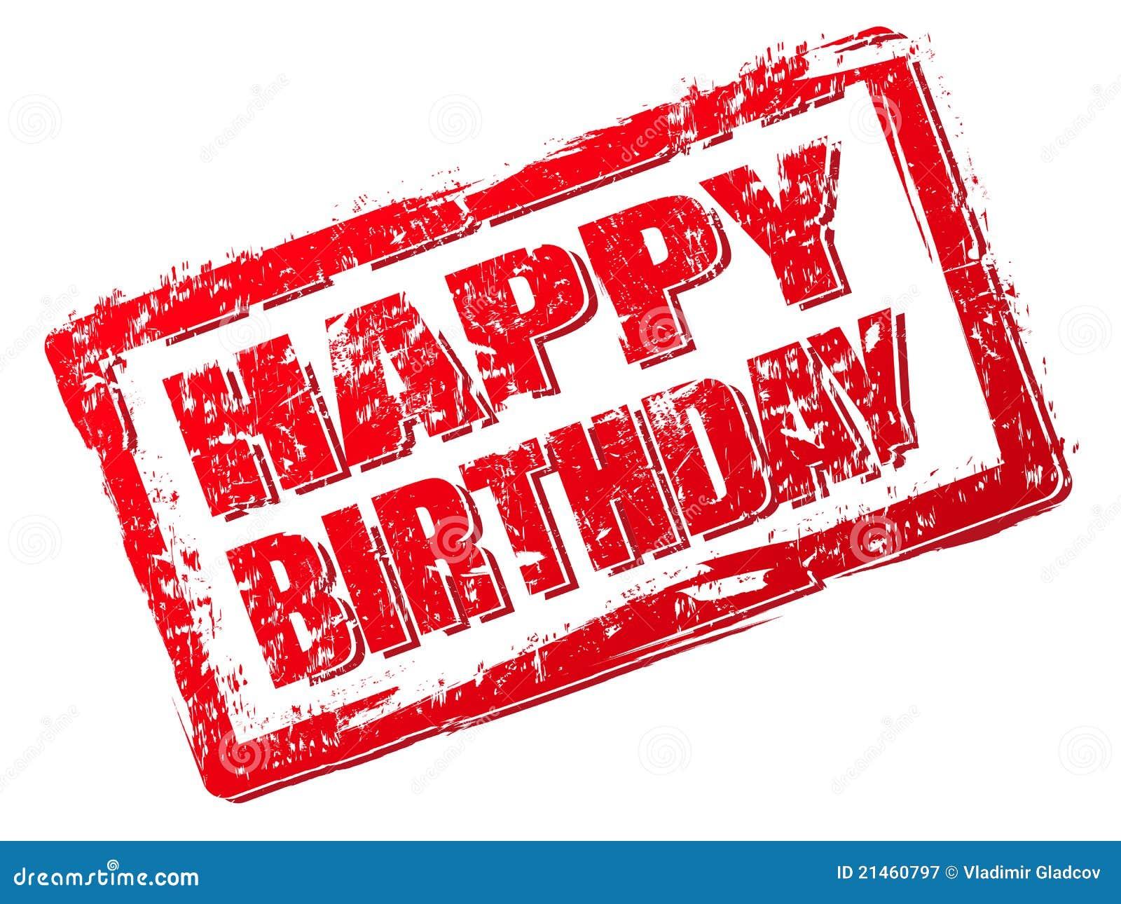 Happy Birthday Stamp Royalty Free Stock Photography