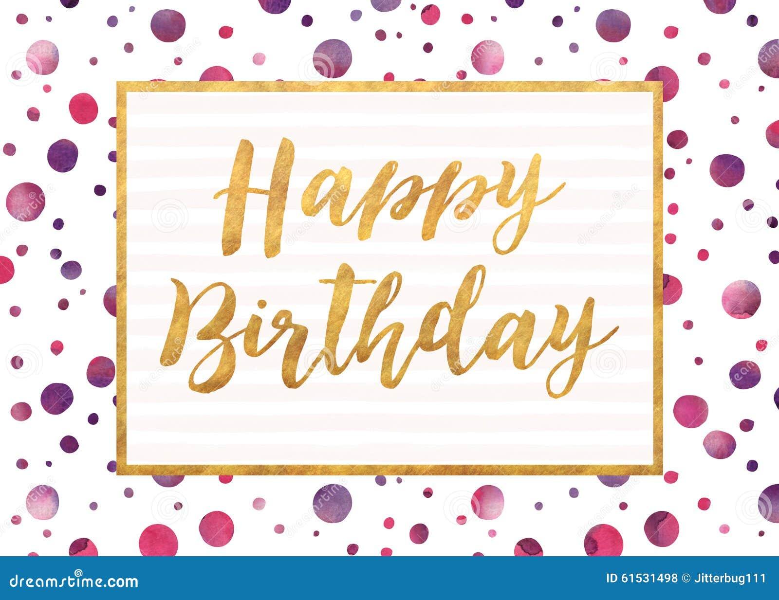 Happy Birthday Stock Photo Image Of Watercolor Dots 61531498