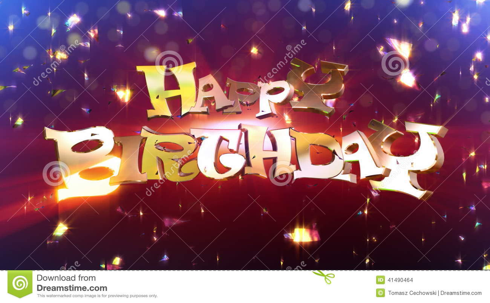 Happy Birthday Suprise Animation Vector Illustration