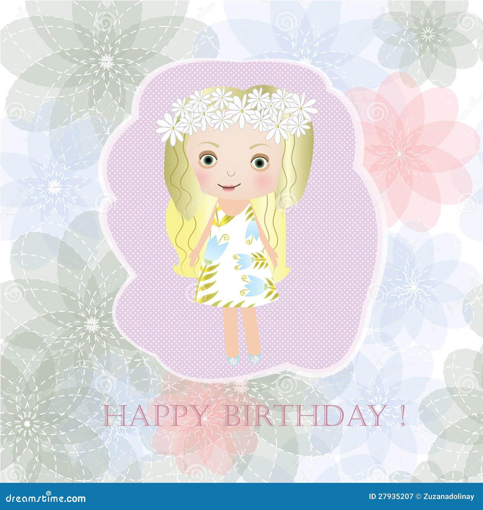 happy birthday sweet small fairy girl