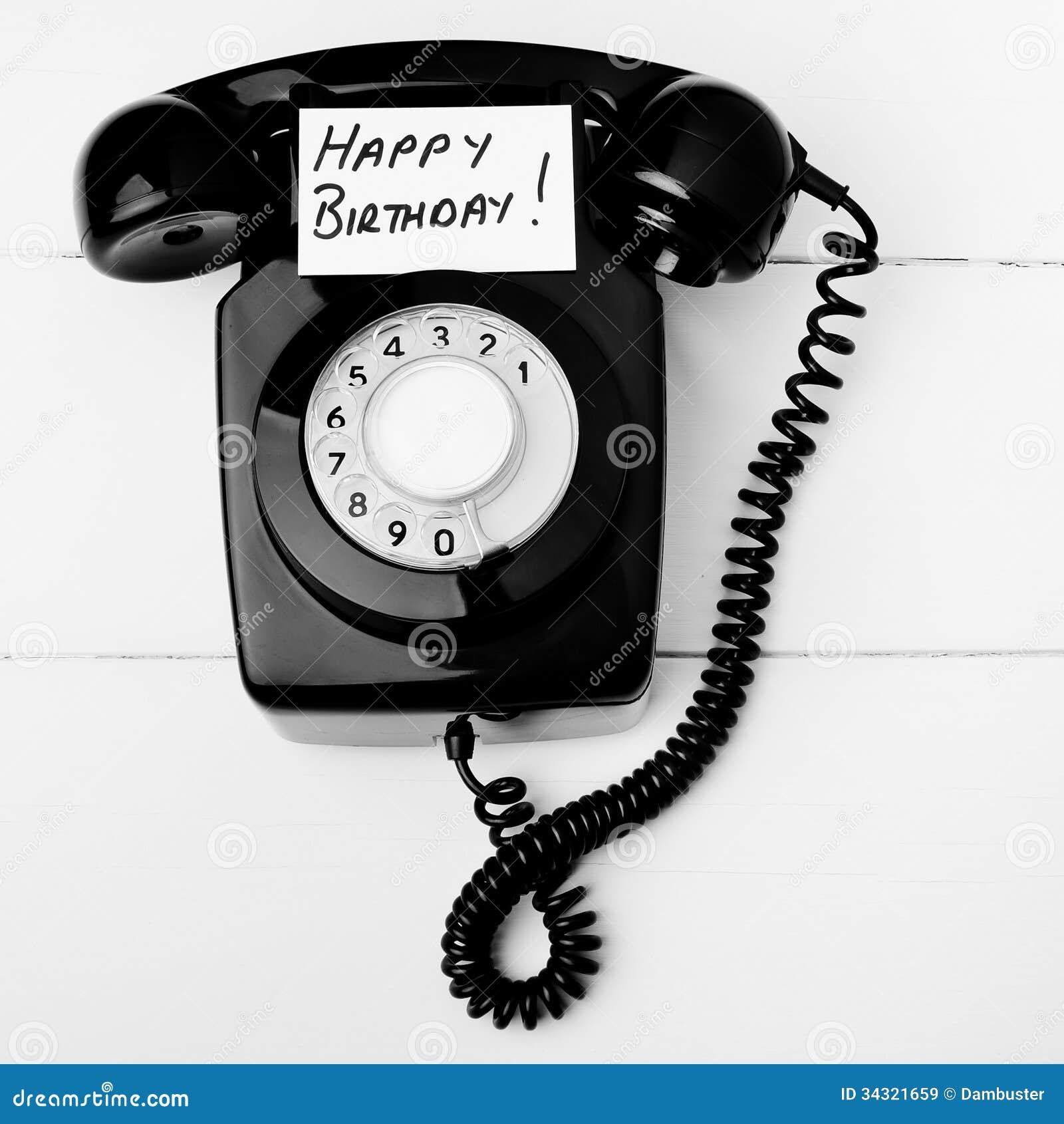 Celebrity birthday phone calls
