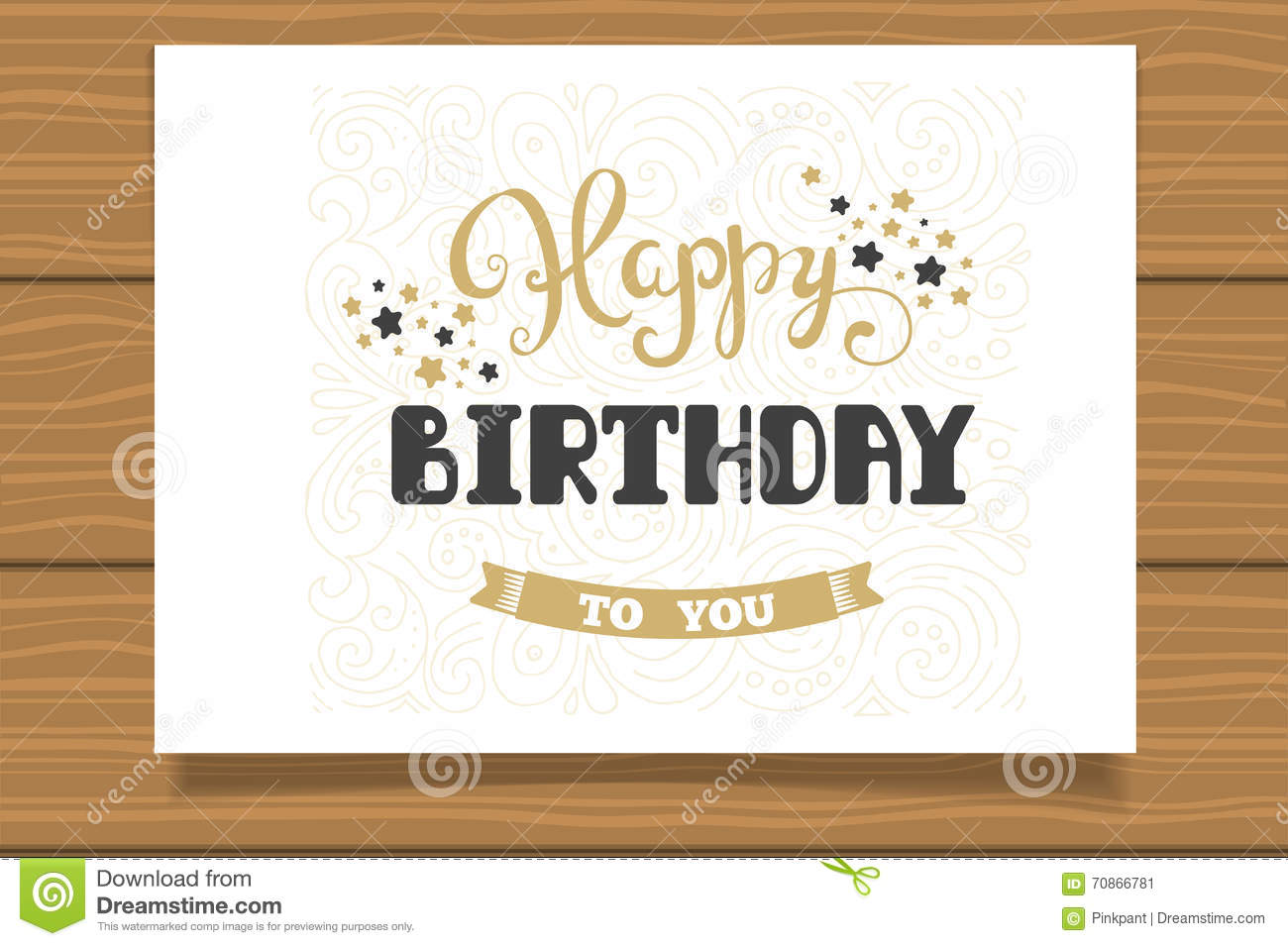 Happy Birthday Template For Cards Hand Lettering