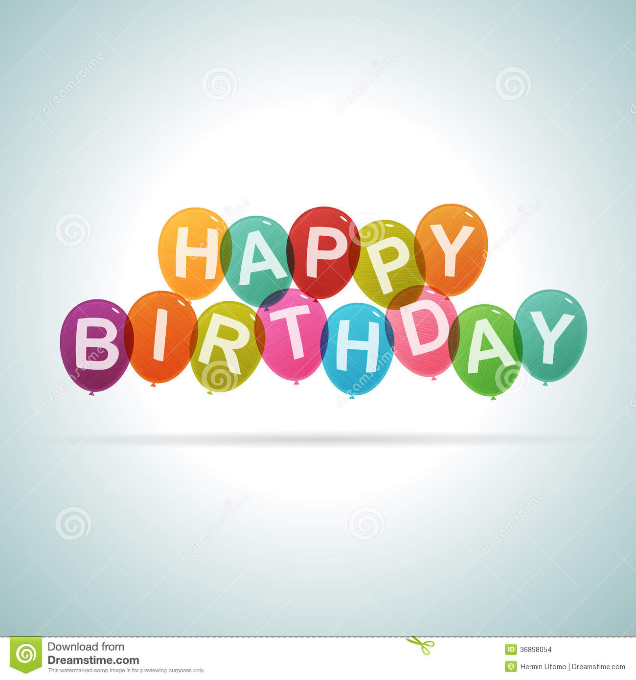 Happy Birthday Text Balloons Stock Images Image 36898054