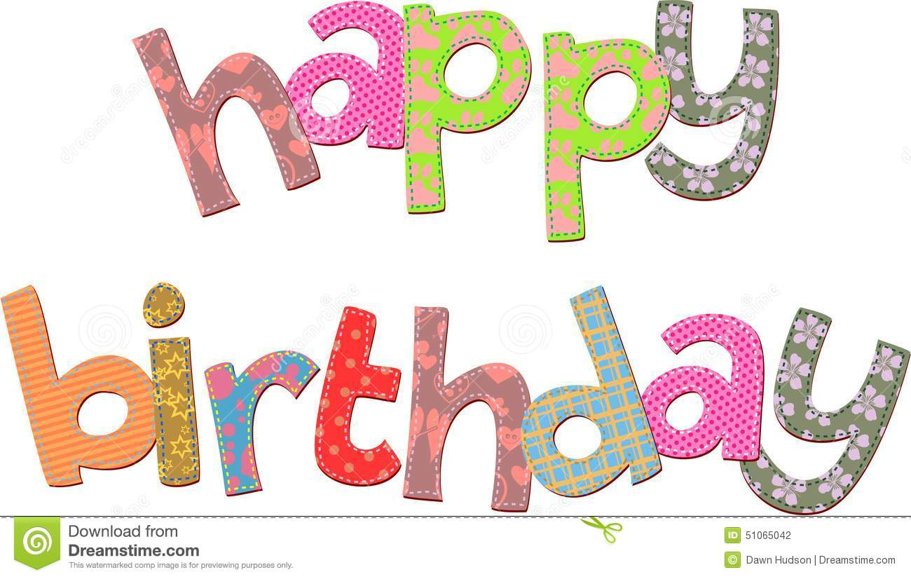 happy birthday text clip art stock illustration illustration of