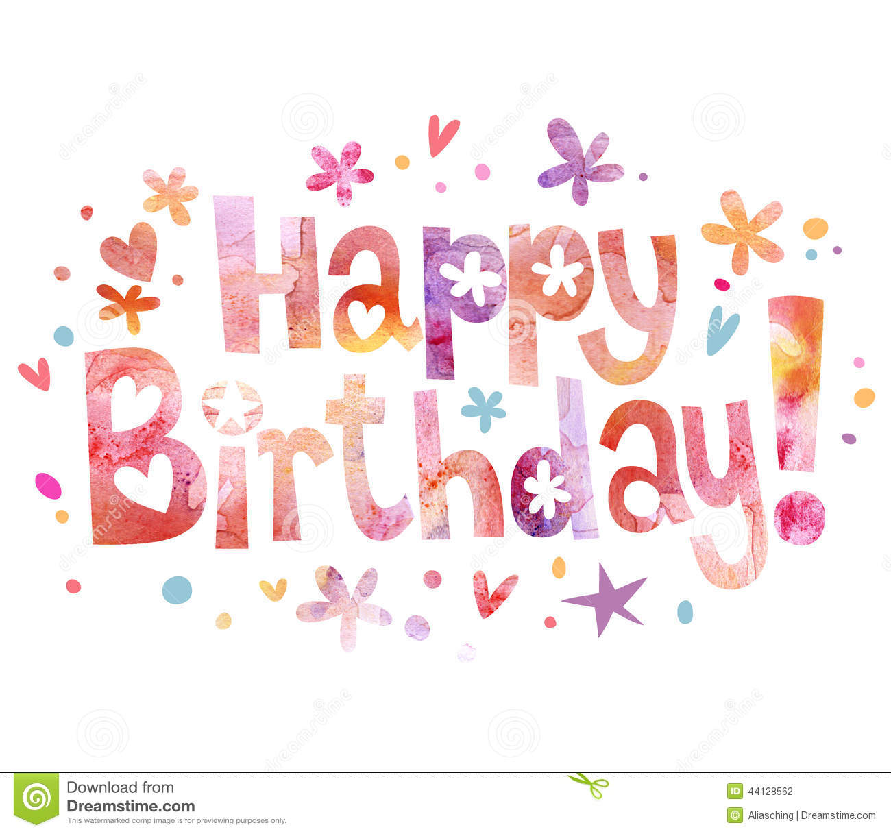 Happy Birthday Illustration Font ~ Happy birthday text stock illustration image