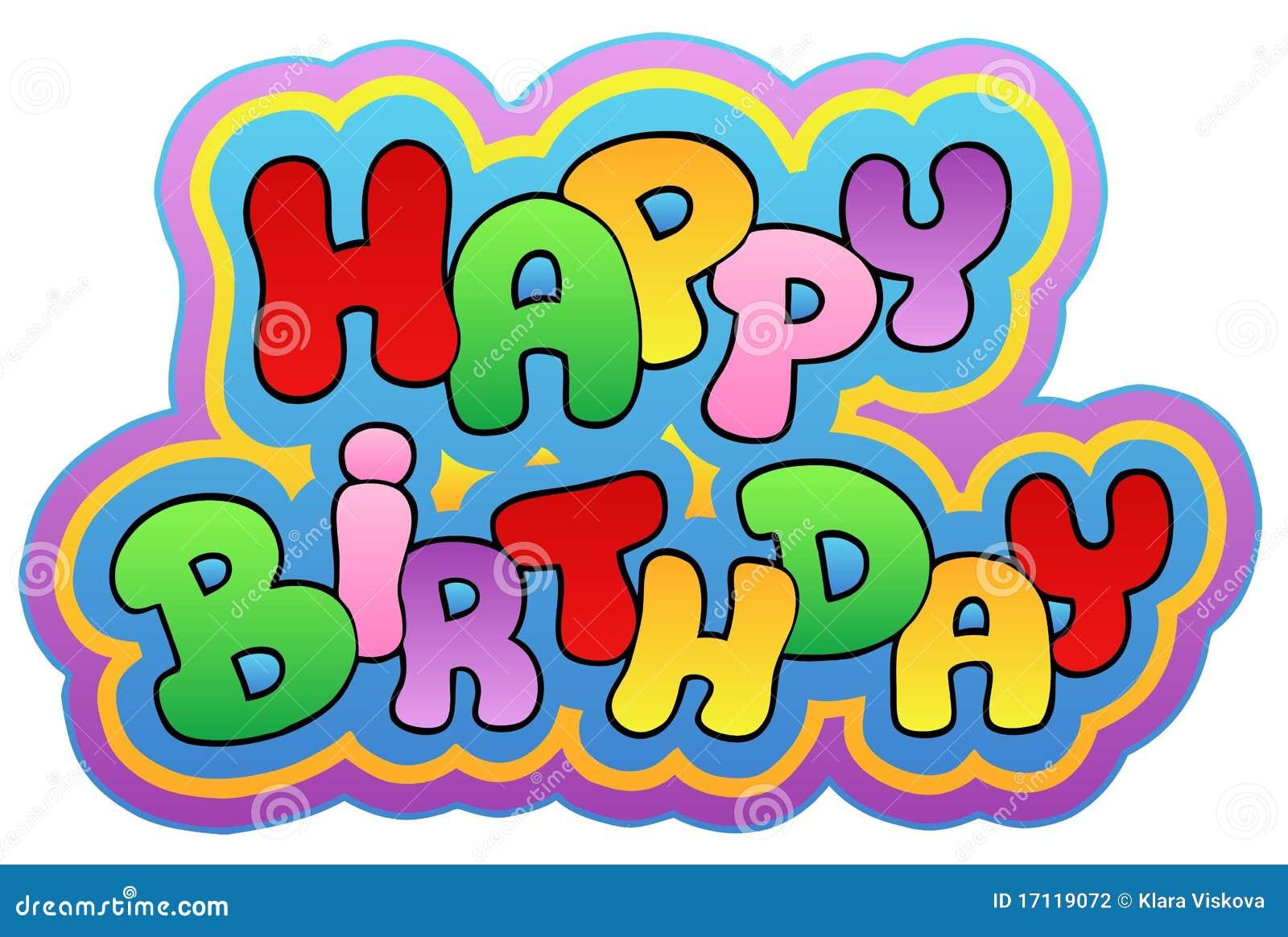 Happy Birthday Theme 1 Stock Vector Illustration Of Note