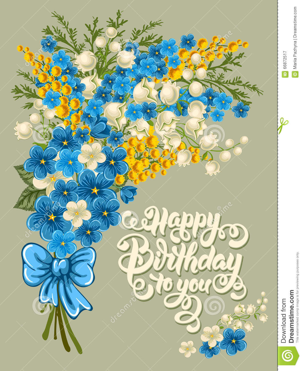 Happy Birthday Stock Vector Illustration Of Lettering 66872517
