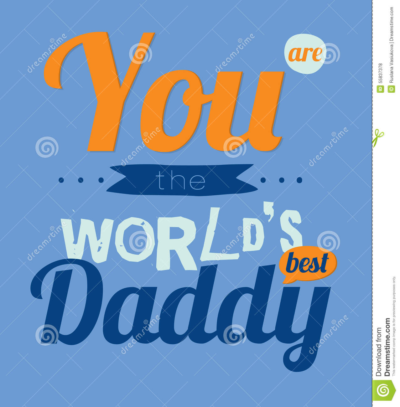 Happy Birthday To Best Father Stock Vector Illustration Of Birth