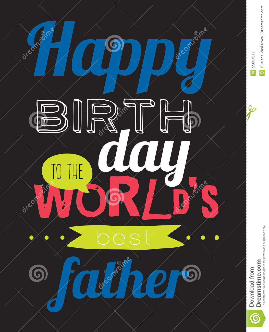 B day poster designs - Birthday Design Father Happy Hipster Poster